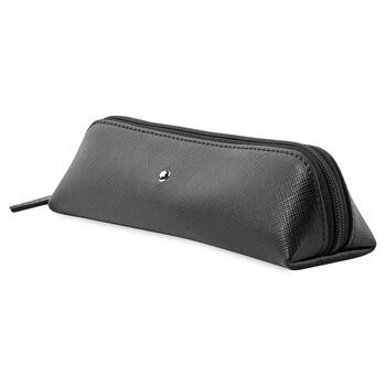 Montblanc Sartorial màu đen Da 2 Pen Pouch Zip Top 116766 chính hãng đang sale giảm giá ở Hà nội TPHCM