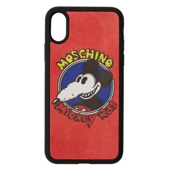 Moschino Nữ Mickey Rat Print iPhone X / XS Case Chính hãng từ Mỹ