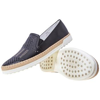 Giày Tod's Open Box - Tods nữ Leather Slip On màu đen, Brand Size 39.5 (US Size 9.5) chính hãng sale giá rẻ