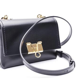 Off-White màu đen size nhỏ Binder Clip Clutch Bag Chính hãng từ Mỹ