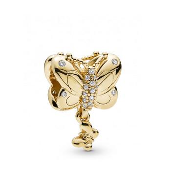 Trang sức Pandora 18k Gold-mạ Butterfly Charm chính hãng sale giá rẻ Hà nội TPHCM