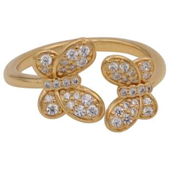 Trang sức Pandora 18k Gold-mạ Butterfly Open Nhẫn