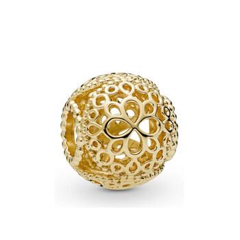 Trang sức Pandora 18k Gold mạ Openwork Flower Charm chính hãng sale giá rẻ Hà nội TPHCM