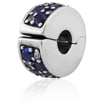 Trang sức Pandora Blue Pave Clip Charm Bạc 925 chính hãng sale giá rẻ Hà nội TPHCM