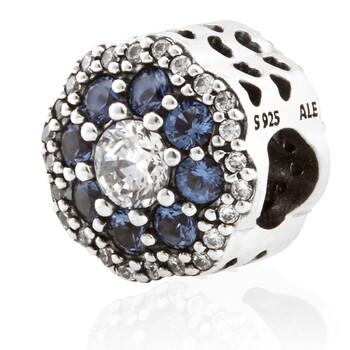 Trang sức Pandora Blue Sparkle Flower Charm Bạc 925 chính hãng sale giá rẻ Hà nội TPHCM