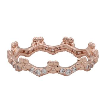 Trang sức Pandora Nữ Vàng hồng 14K-mạ Flower Crown Nhẫn