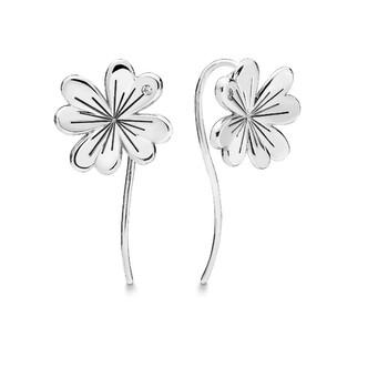 Trang sức Pandora Nữ Lucky Four Leaf Clovers Bông tai (khuyên tai