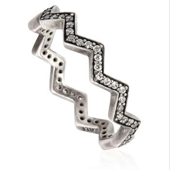 Trang sức Pandora Nữ Shimmering Zigzag Nhẫn Bạc 925, Size 52 (US 6) chính hãng sale giảm giá sỉ rẻ nhất ở Hà nội TPHCM