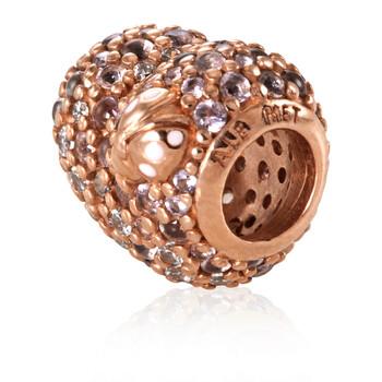 Trang sức Pandora Pave Ladybird Heart Charm Rose-gold mạ chính hãng sale giá rẻ Hà nội TPHCM