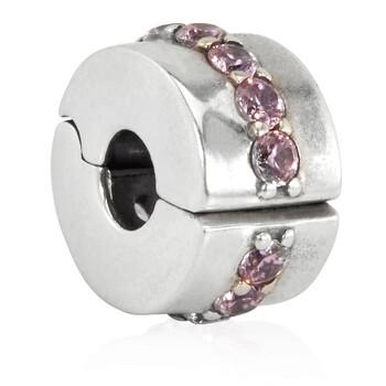 Trang sức Pandora Pink Sparkling Row Clip Charm chính hãng sale giá rẻ Hà nội TPHCM