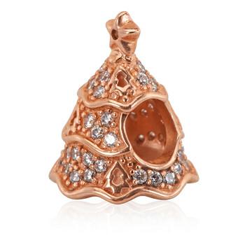 Trang sức Pandora Rose-gold Tone Twinkling Christmas Tree Charm chính hãng sale giảm giá sỉ rẻ nhất ở Hà nội TPHCM