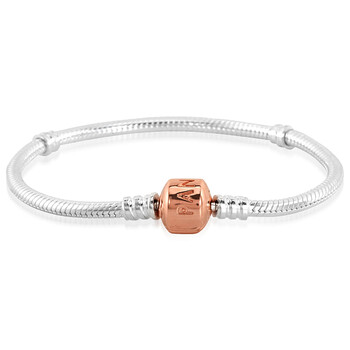 Trang sức Pandora Bạc 925 và Vàng hồng 14K Moments Snake Chain Vòng đeo tay
