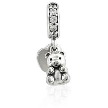 Trang sức Pandora Bạc 925 Baby Teddy Bear Dangle Charm chính hãng sale giá rẻ Hà nội TPHCM