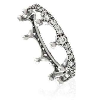 Trang sức Pandora Bạc 925 Clear Sparkling Crown Nhẫn