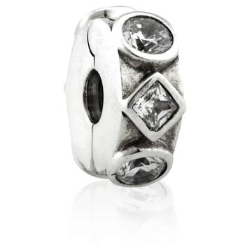 Trang sức Pandora Bạc 925 Geometric Shapes Clip Charm chính hãng sale giá rẻ Hà nội TPHCM