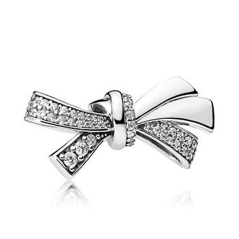Trang sức Pandora Bạc 925 Oversized Sparkling Bow Charm chính hãng sale giá rẻ Hà nội TPHCM