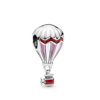Trang sức Pandora Bạc 925 Red Hot Air Balloon Travel Charm chính hãng sale giá rẻ Hà nội TPHCM