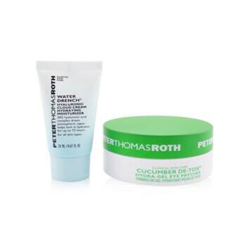 Mỹ phẩm chăm sóc da Peter Thomas Roth Drench & De-Tox 2-Piece Kit: Hydrating Moisturizer 20ml + Cucumber Eye Patches 15pairs 2pcs chính hãng từ Mỹ US UK sale giá rẻ ở tại Hà nội TPHCM