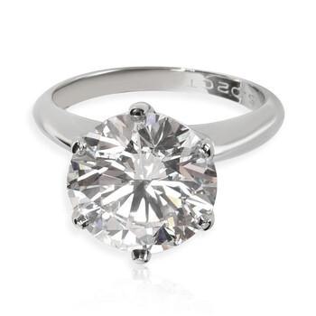 Trang sức Tiffany & Co. Pre-owned Tiffany Nữ Platinum 5.02 CT Round Cut Kim cương trắng Solitaire Nhẫn Size 6 chính hãng sale giá rẻ Hà nội TPHCM