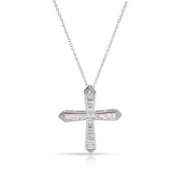 Trang sức Graff Pre-Owned Baguette Kim cương Pendant 18K Platinum/Vàng trắng 5.81 CTW chính hãng sale giá rẻ Hà nội TPHCM