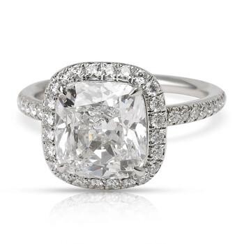 Trang sức Harry Winston Pre-Owned Kim cương Nhẫn đính hôn Platinum (2.66 ct Cushion D/VVS2) chính hãng sale giá rẻ Hà nội TPHCM