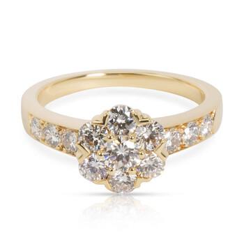 Trang sức Van Cleef Pre-Owned & Arpels Flora Kim cương Nhẫn Vàng 18K 0.74 CTW chính hãng sale giá rẻ Hà nội TPHCM