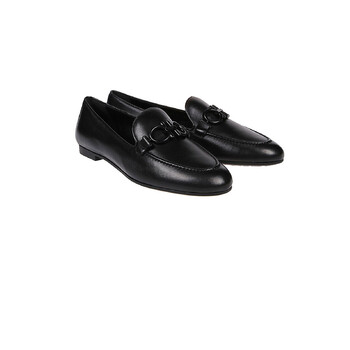 Giày Salvatore Ferragamo nữ màu đen Trifoglio Mocassino Loafers chính hãng