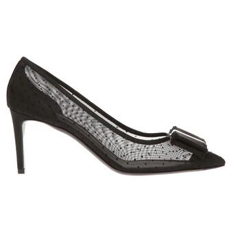 Giày Salvatore Ferragamo nữ Double Bow Pump Shoe màu đen chính hãng