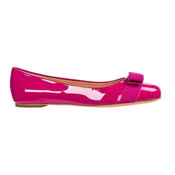 Giày Salvatore Ferragamo Varina Ballet Flats màu hồng chính hãng