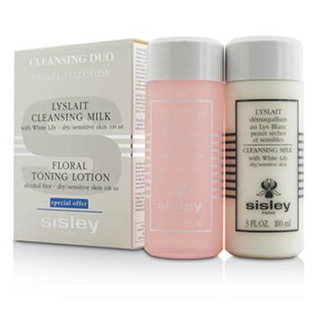 Mỹ phẩm chăm sóc da Sisley Cleansing Duo Travel Selection Set: Cleansing Milk w/White Lily 100ml/3oz + Floral Toning Lotion 100ml/3oz 2pcs chính hãng từ Mỹ US UK sale giá rẻ ở tại Hà nội TPHCM