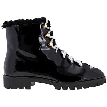 Giày Stella Luna nữ Splatter Paint Ankle Boots màu đen chính hãng