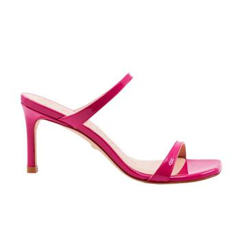 Giày Stuart Weitzman nữ Peonia Hot màu hồng Patent Leather The Aleena 75 Sandals chính hãng