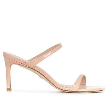 Giày Stuart Weitzman nữ Aleena 75 Poudre Patent Leather Sandals chính hãng