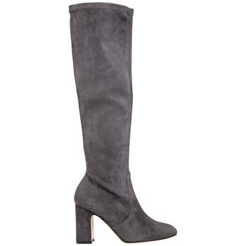 Giày Stuart Weitzman Dark màu xám Milla Suede Knee Boots chính hãng