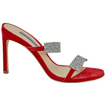 Giày Stuart Weitzman nữ Razzle 95 Sue Crystal màu đỏ Sandals chính hãng