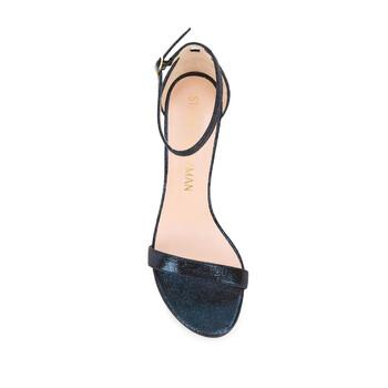 Giày Stuart Weitzman The Nearlynude Lame 80mm Sandals chính hãng
