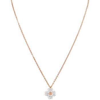 Trang sức Swarovski Latisha Reversible mạ Vàng hồng Flower Pendant chính hãng sale giá rẻ Hà nội TPHCM