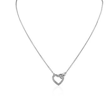 trang sức Swarovski Rhodium mạ Lovely Crystal Heart Dây chuyền (vòng cổ) chính hãng sale giá rẻ tại Hà nội TPHCM