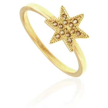 Trang sức Swarovski Field Star Gold-tone Nhẫn - Size 55 chính hãng sale giá rẻ Hà nội TPHCM
