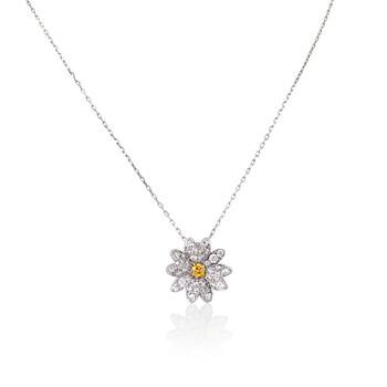 Trang sức Swarovski Yellow Eternal Flower Pendant Dây chuyền (vòng cổ) chính hãng sale giá rẻ Hà nội TPHCM