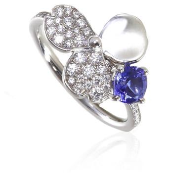Trang sức Tiffany & Co. Paper Flowers Kim cương và Tanzanite Flower Nhẫn - Size 7 chính hãng sale giá rẻ Hà nội TPHCM