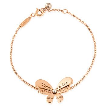 Trang sức Tiffany & Co. & Co. Vàng hồng 18K và Bạc 925 Butterfly Chain Vòng đeo tay chính hãng sale giá rẻ Hà nội TPHCM