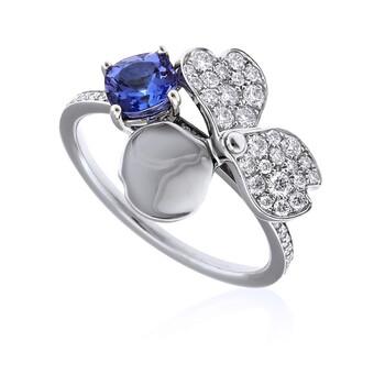 Trang sức Tiffany & Co. & CO. Nữ Tiffany Paper Flowers Kim cương và Tanzanite Flower Nhẫn