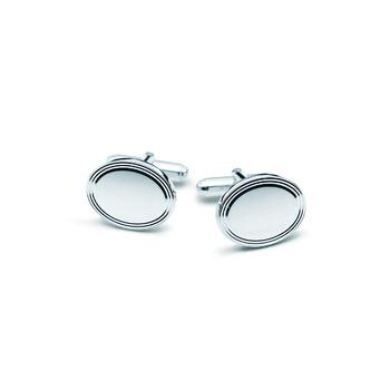 Trang sức Tiffany & Co. Engine-turned Cuff Links Bạc 925 chính hãng sale giá rẻ Hà nội TPHCM