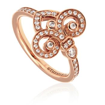 Trang sức Tiffany & Co. Fleur de Lis 18kt Vàng hồng Nhẫn- Size 5 chính hãng sale giá rẻ Hà nội TPHCM