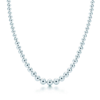 tiffany hardwear graduated ball necklace in sterling silver 10579325