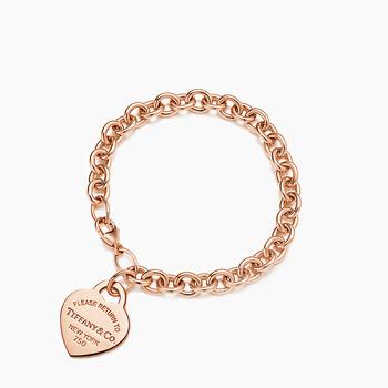 Trang sức Tiffany & Co. Nữ Vàng hồng 18K Return To Tiffany Heart Tag Vòng đeo tay