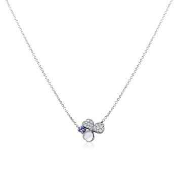 Trang sức Tiffany & Co. Paper Flowers Kim cương và Tanzanite Flower Pendant chính hãng sale giá rẻ Hà nội TPHCM
