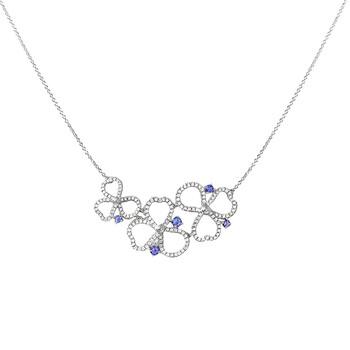 Trang sức Tiffany & Co. Paper Flowers Kim cương và Tanzanite Open Cluster Dây chuyền (vòng cổ) chính hãng sale giá rẻ Hà nội TPHCM
