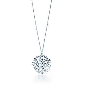 Trang sức Tiffany & Co. Paloma Picasso Olive Leaf Medallion Pendant Bạc 925 chính hãng sale giá rẻ Hà nội TPHCM